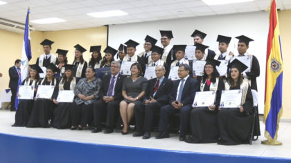 The first graduating class at Universidad Nacional Autónoma de Nicaragua, October 2016